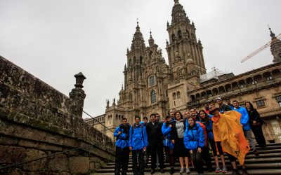 The participants of the project 'Linking university knowledge on the Camino' arrive in Compostela for the final academic meeting