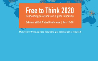 Scholars at Risk celebrates its 20th anniversary with a virtual conference