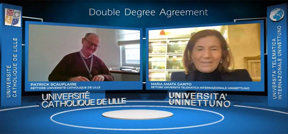 UNINETTUNO and the Catholic University of Lille collaborate on a Master in Business Management and Digital Technologies