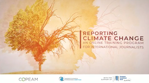 Image for 1st edition Reporting on Climate Change and Sustainable Development of UNINETTUNO. Imagen correspondiente la primera edición del curso Informar sobre el cambio climático y el desarrollo sostenible de UNINETTUNO