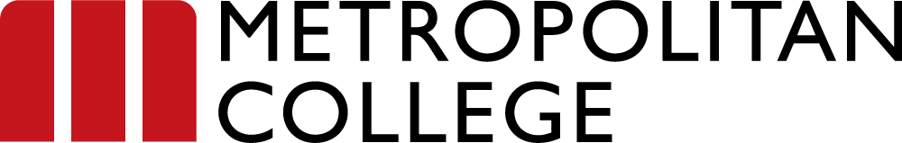 Logo Metropolitan College in English