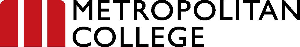 Logotipo Metropolitan College en inglés